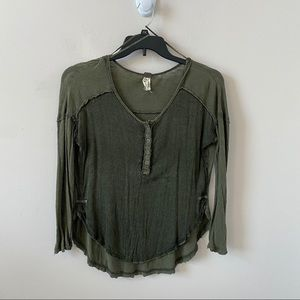 We the Free Free People Olive Green Top- Size XS